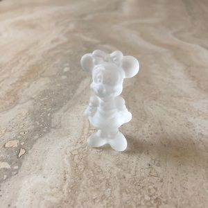 Minnie Mouse Frosted Glass Figurine